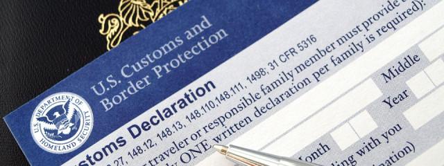 US Customs Declaration Form