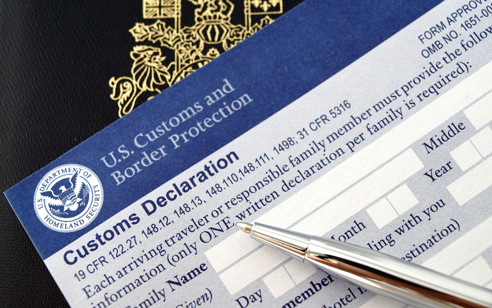 Us Customs Declaration Form Trip Sense
