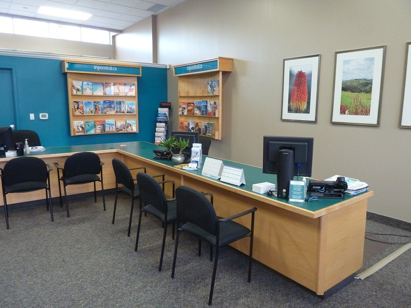 We 39 ve moved guelph travel agency grand opening for Travel agency office interior design ideas