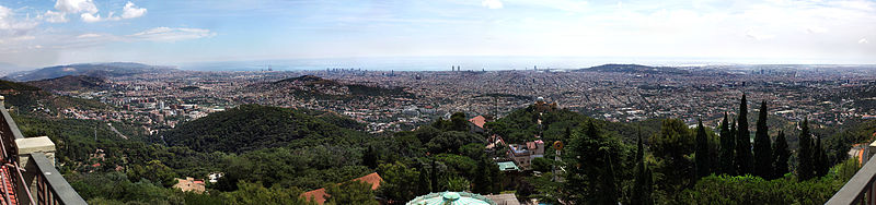 Tibidabo Mountains view
