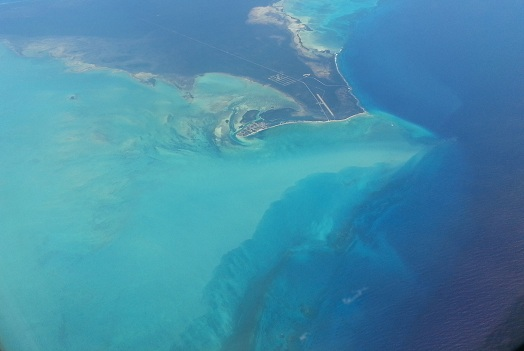 Bahamas view from plane