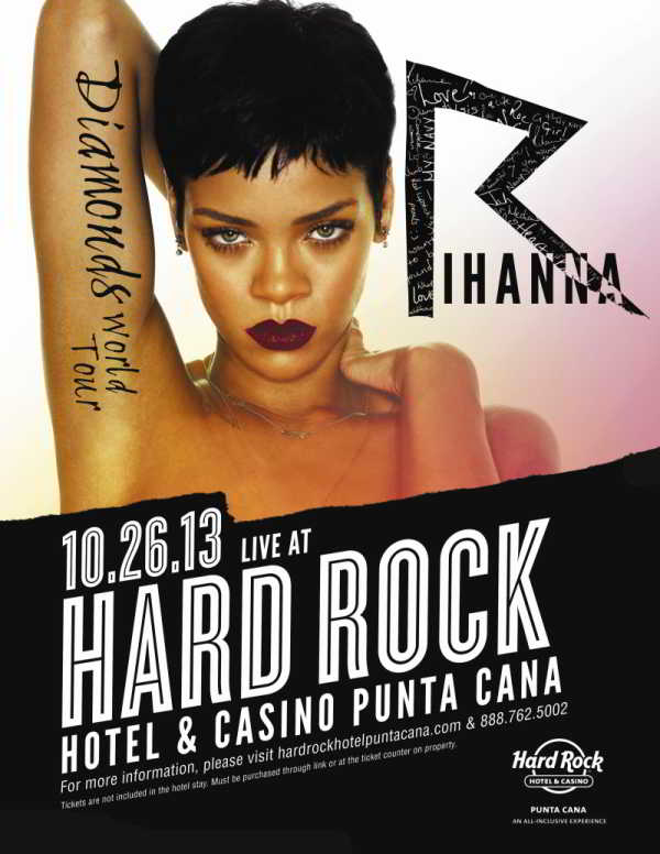 Rihanna Hard Rock Cafe Punta Cana 2013