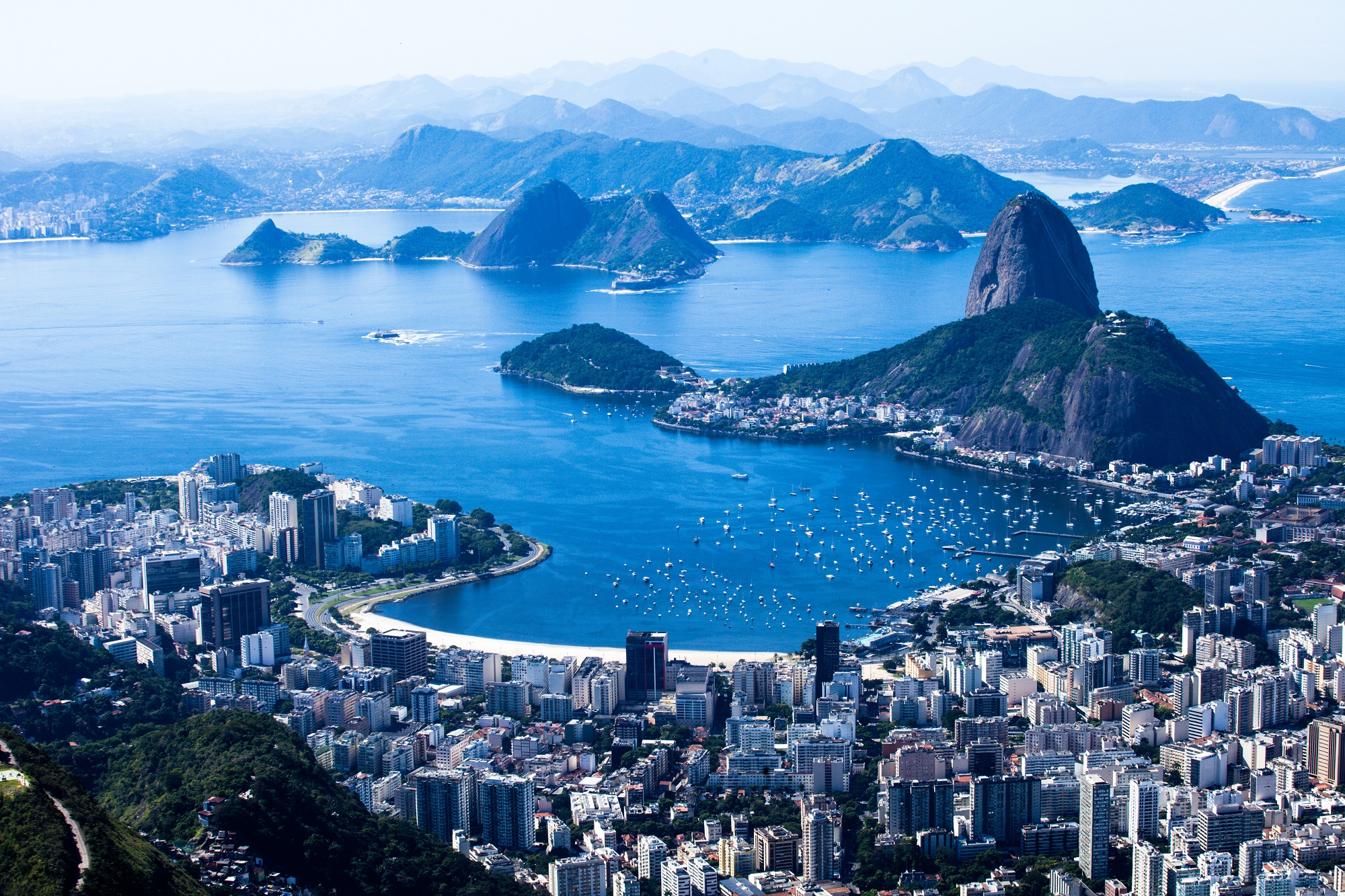 Suggar Loaf and Botafogo in Rio de Janeiro in Brazil.