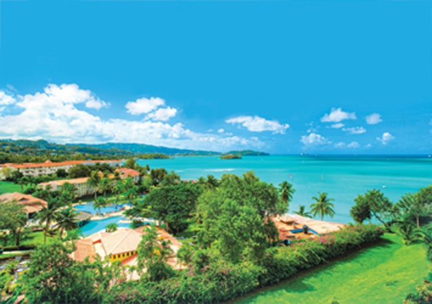 The St. James Club Morgan Bay is located on the west of St. Lucia.