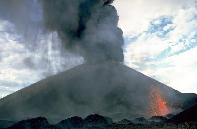 Cerro Negro Eruption in 1968