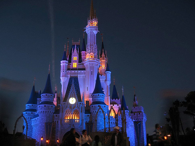 Walt Disney World at night. Photo retrieved from Basharat Alam Shah