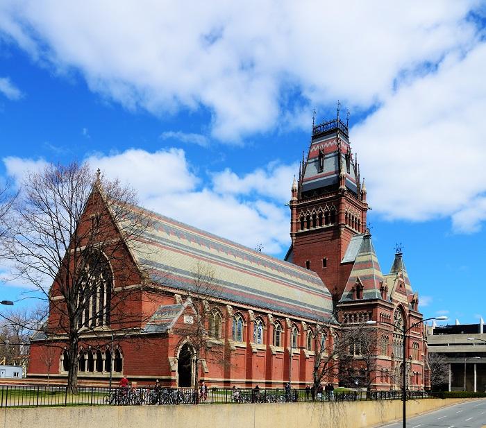 Memorial Hall at Harvard University in Boston, Massachusetts.