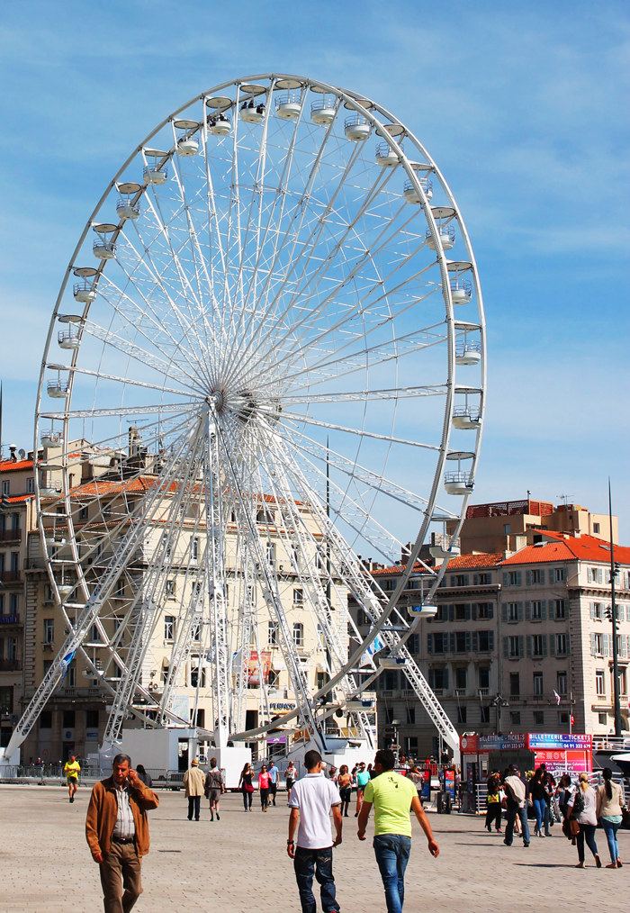 Marseille has a large ferris wheel that offers brilliant city views especially at night!