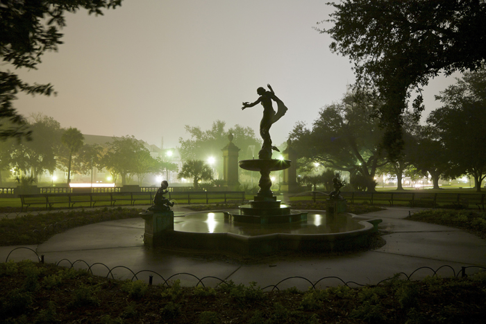 Statue and Fountain in Audubon Park