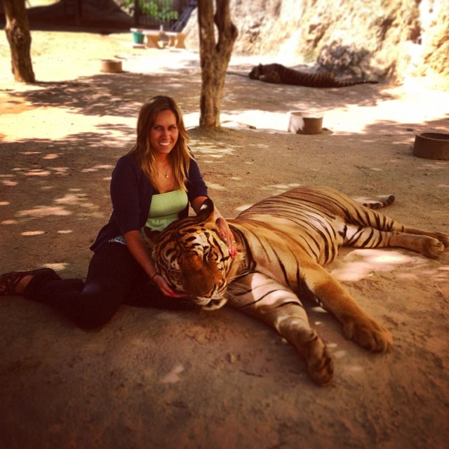 Shannon and Tiger in Thailand