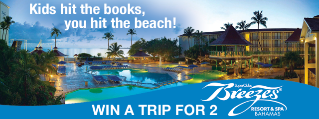 Win a trip for 2 to Breezes Bahamas