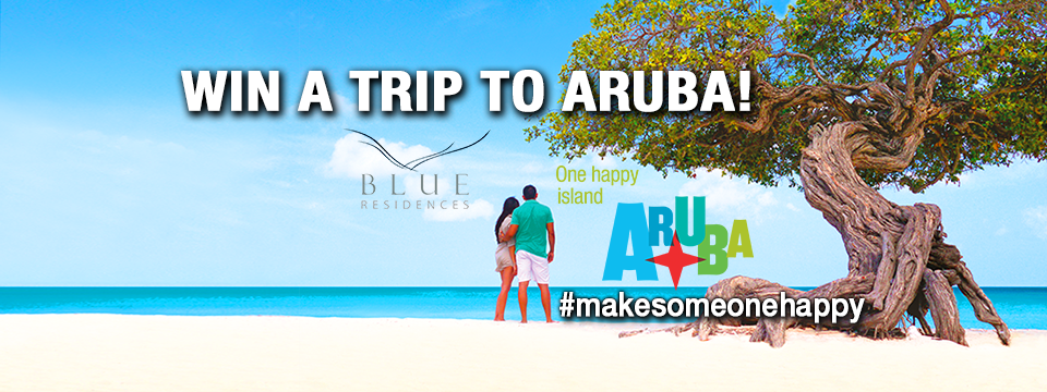 tripcentral.ca and the Aruba Tourism Authority want to send you and a friend to One Happy Island!
