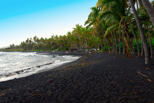 Punaluu makes our best beaches to see in 2015 for it's beautiful black sand, from neighbouring volcanoes.