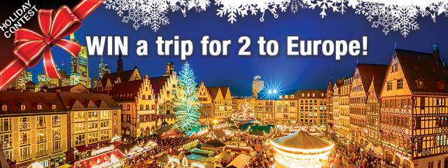 WIN 2 Round-Trip Flights to Europe!