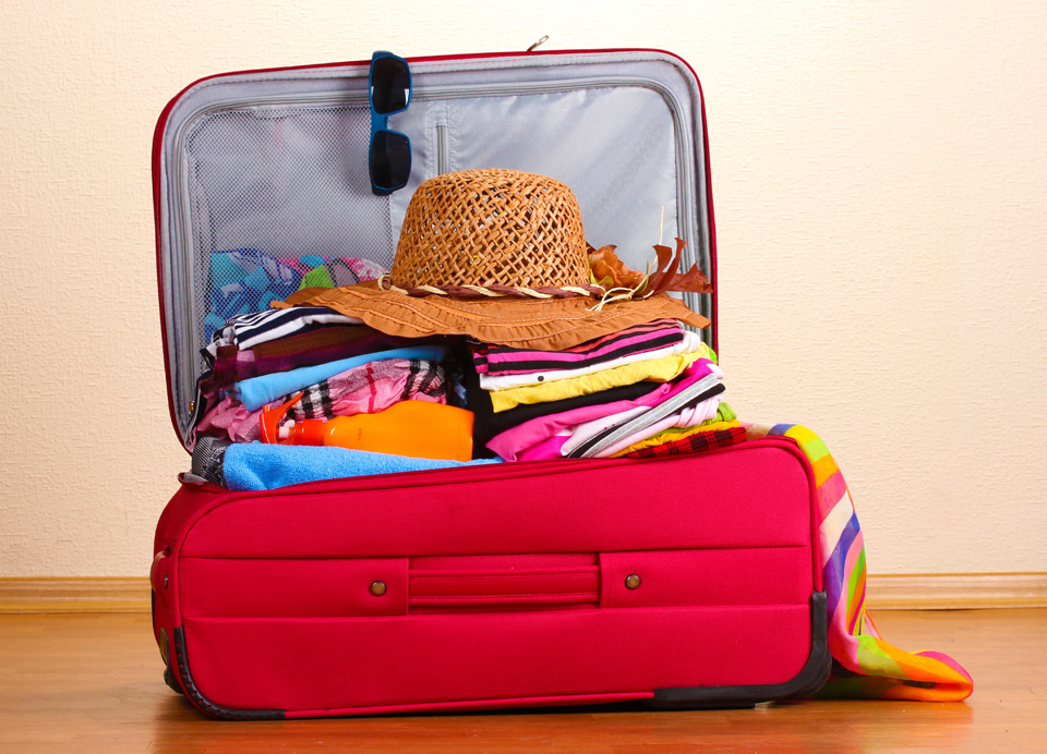 Shorten your vacation packing list and only pack a carry-on bag for your vacation to cut down on wait lines and worry with checked baggage.
