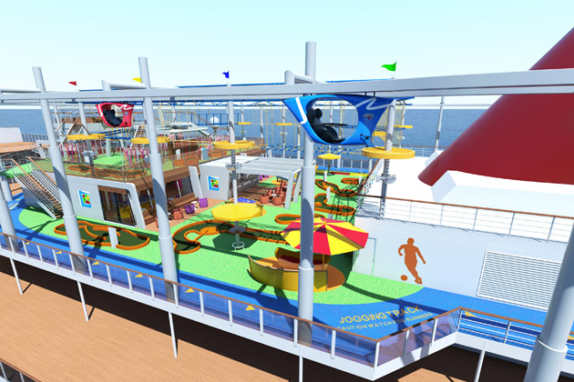 The Carnival VISTA has activities for the whole family, including the first IMAX Theatre at sea.