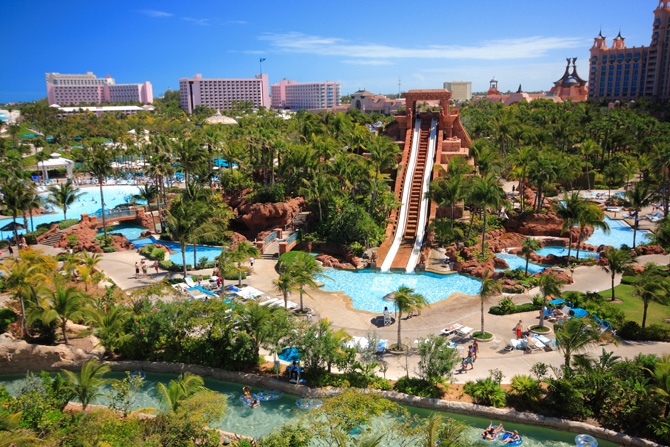 The Atlantis resort in the Bahamas is one of the best kid friendly resorts in the Caribbean.