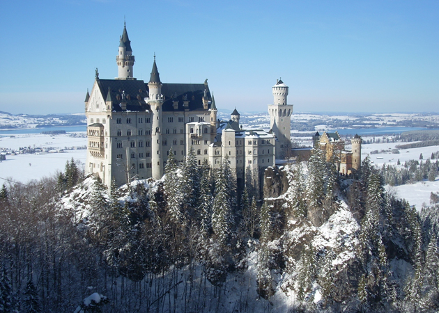 No trip to Germany is complete without visiting Neuschwanstein on your tour of castles of Europe. This fairytale castle was the inspiration behind the Cinderella castle, and it's a must-see!