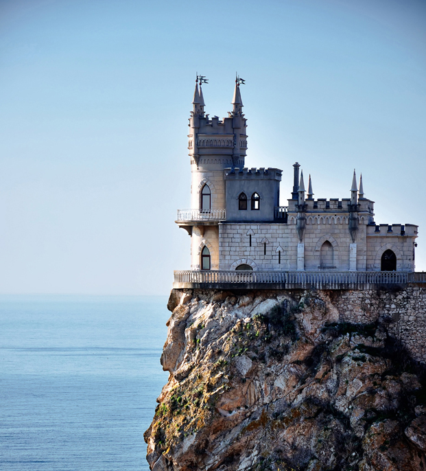 Add the Swallow's Nest castle in Ukraine to your list of castles of Europe. Located on a cliff above the Black Sea, this castle is a stunning addition to any trip.