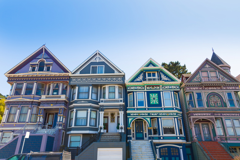 Victoria Houses in Haight Ashbury