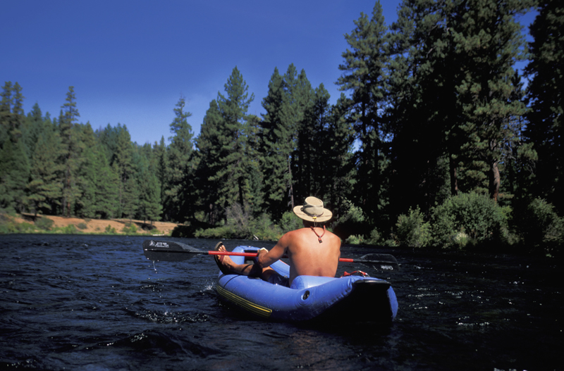 Rafting on Metolius River. Courtesy of Travel Oregon, photo by Christian Heeb