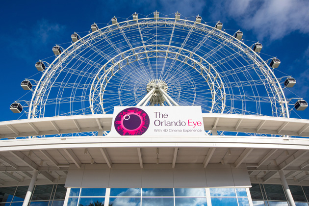 The new Orlando Eye which has 30 air conditioned capsules for views of the city