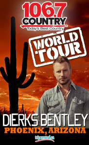 Win a trip to Arizona to see Dierks Bentley with Country 106.7 in Kitchener.