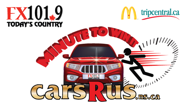 FX 101.9 in Halifax is giving away a car, and a trip, in their Minute To Win It contest,