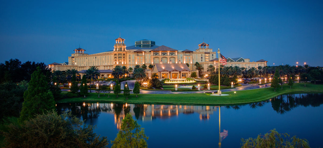 The Gaylord Palms resort is an accommodation option for adults looking to vacation in Orlando.