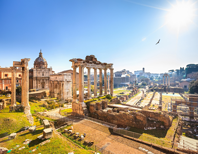 The Rome Forum is in the midst of the city and sheds light on Rome's ancient history