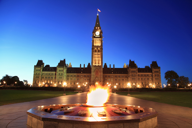 Parliament Hill in downtown Ottawa is a must-visit for your Ottawa vacation