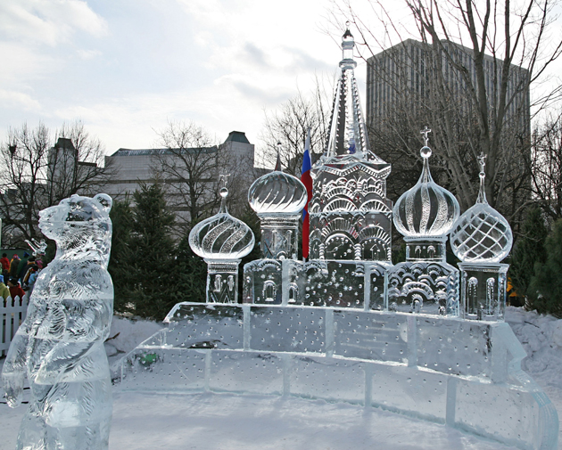 The Winterlude Festival is held in February along the Rideau Canal, which sees many people skating to work in winter months
