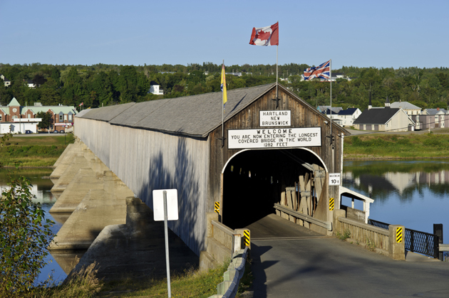 attractions in New Brunswick: hartland covered bridge