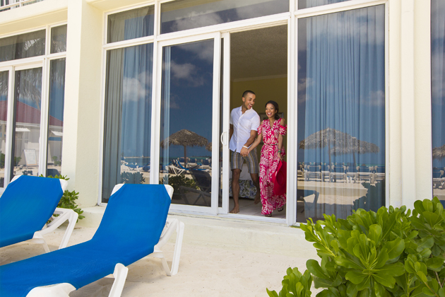Breezes Bahamas all-inclusive resort offers beachfront rooms that open up to the beautiful Bahamas white sand