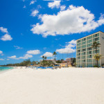 The beachfront of the Breezes Bahamas all-inclusive resort is along Cable Beach