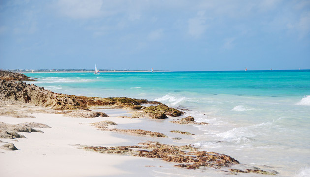 White sand beach with turquoise waters, one of the things to do in Cayo Santa Maria