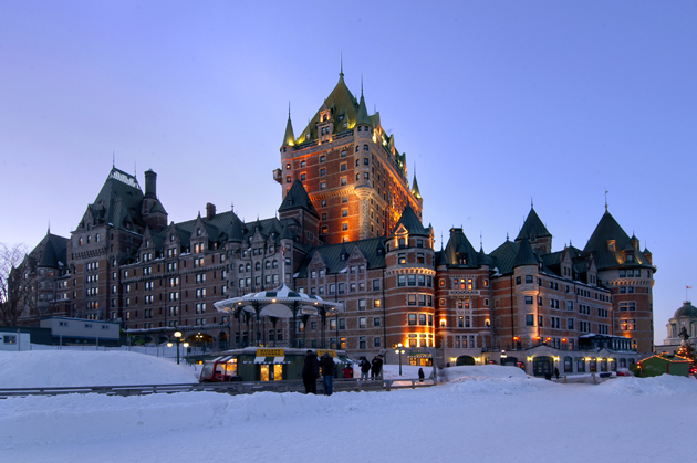 The Fairmont Chateau Frontenac is a historic Fairmont hotel in Quebec City