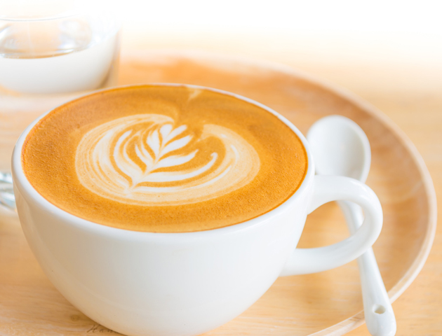 Enjoy coffee around the world with a traditional latte in Italy