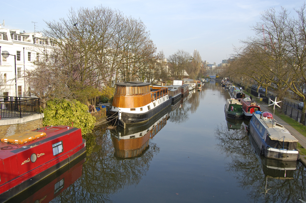 Canal at Little Venice in London