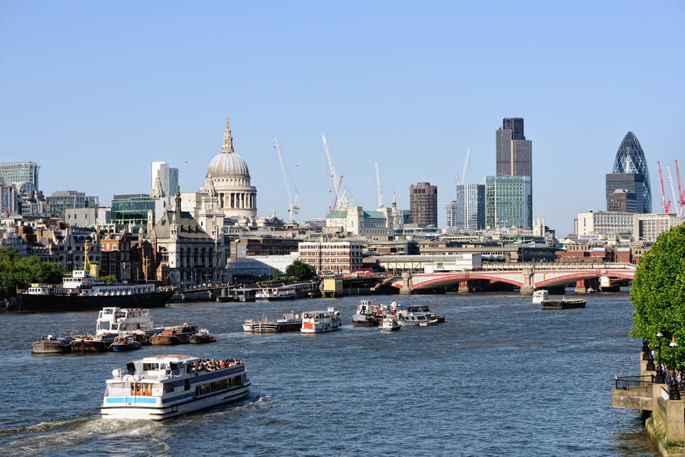 View over the River Thames