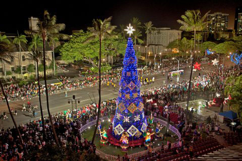 Honolulu is one of the top holiday destinations with the Honolulu City Lights festival