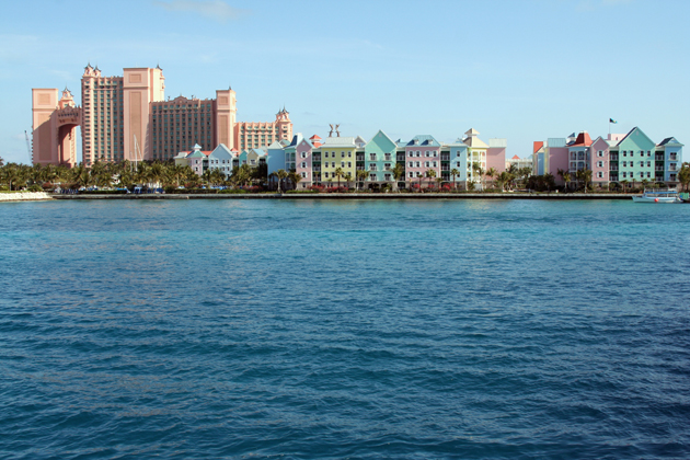 The downtown Nassau waterfront is a great area to wander and explore other items on our Nassau travel guide list
