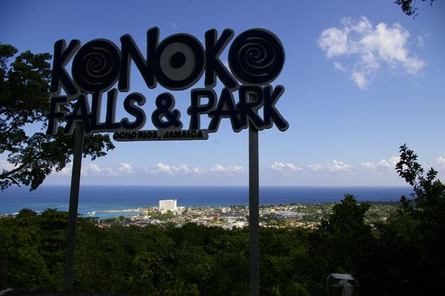 The top of Konoko Falls gives a great view of Ocho Rios