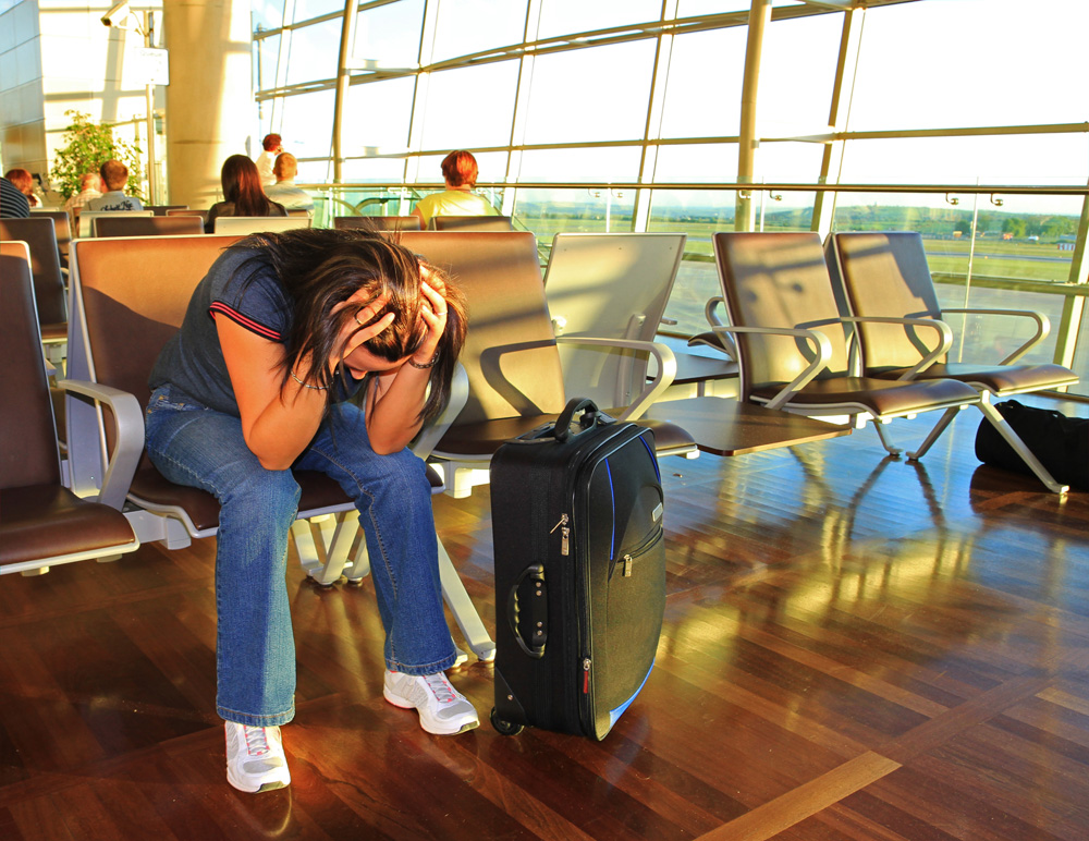 Frustrated Women at the Airport