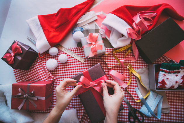 Avoid holiday airport stress by not wrapping your gifts before going through security to avoid long lines