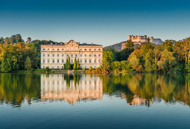 The Leopoldskron Palace seen from a Sound of Music tour in Salzburg