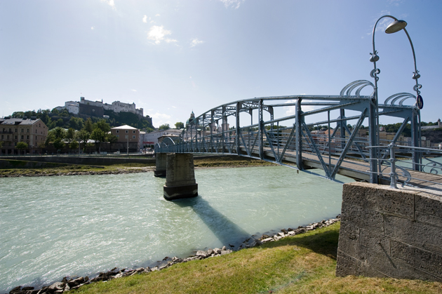 Mozart Bridge in Salzburg from the Sound of Music tours