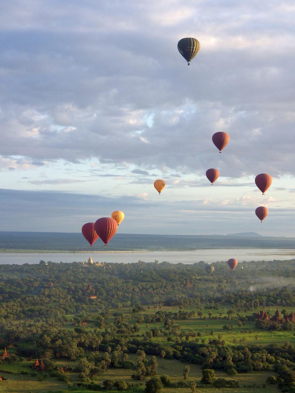 Balloon Ride in Burma