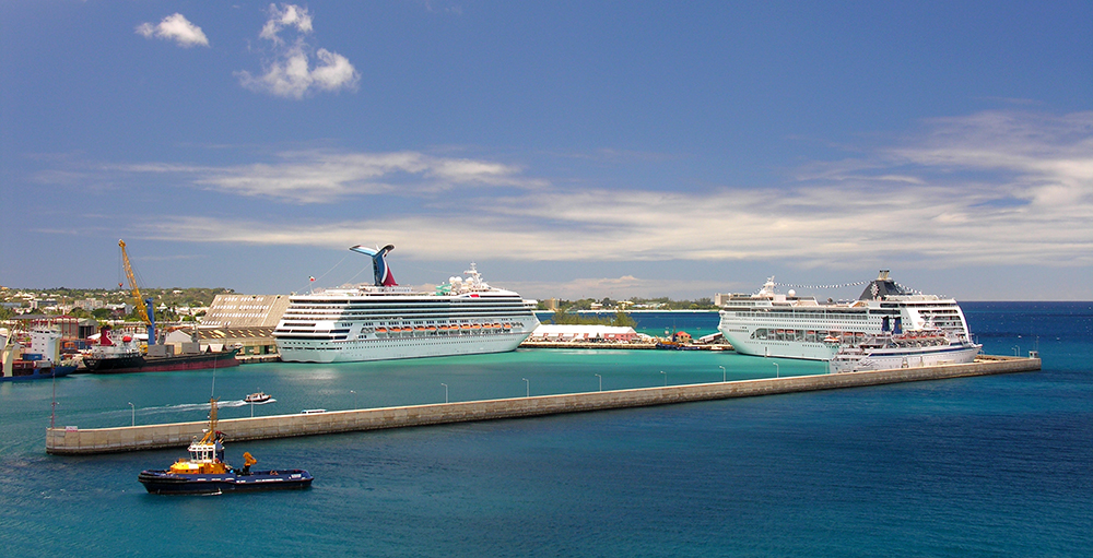 The cruise terminal in Bridgetown Barbados