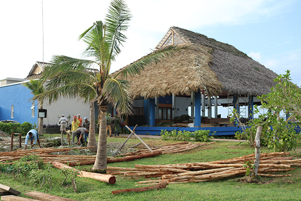 Playa Cayo Santa Maria work following Hurricane Irma